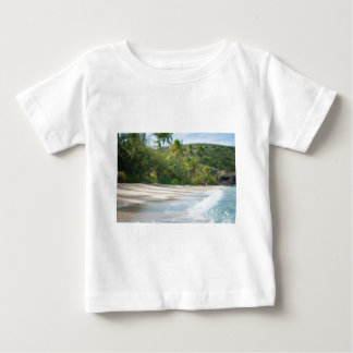 Surf breaking on a sandy beach shirt