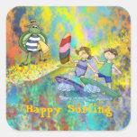 Surf Buddies Square Sticker
