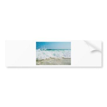 Beach Themed surf bumper sticker