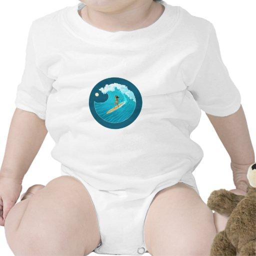Surf Bunny Baby Bodysuits