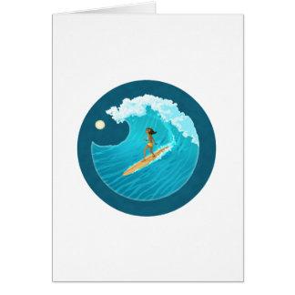 Surf Bunny Card