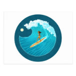 Surf Bunny Postcard