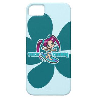 Surf Bunny Surfer Girl Cartoon iPhone SE/5/5s Case