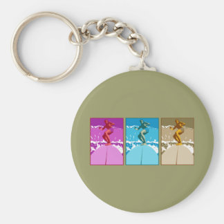 Surf California Californian surfers surfing gifts Basic Round Button Keychain
