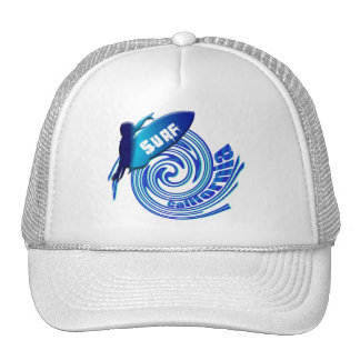 Surf California Californian surfers surfing gifts Trucker Hat
