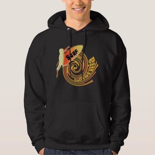Surf California Californian surfers surfing gifts Hoodie