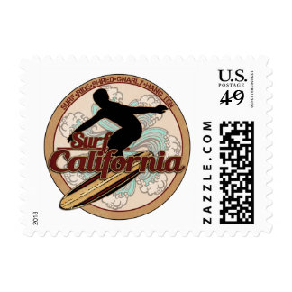 Surf California vintage surfboard logo stamps