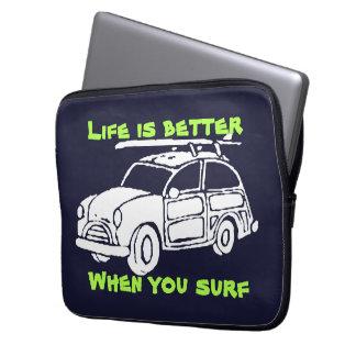 Surf car laptop sleeve