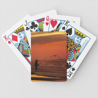 SURF CASTING BICYCLE PLAYING CARDS