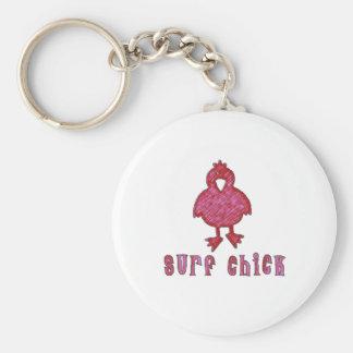 Surf Chick Keychain