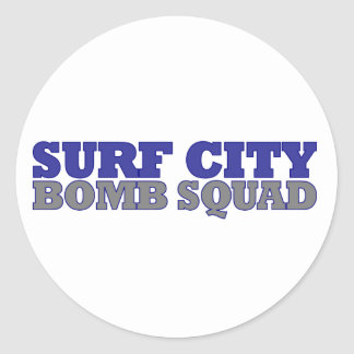 Surf City Bomb Squad Classic Round Sticker