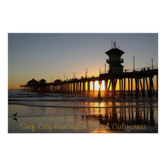 Surf City HB CA Poster