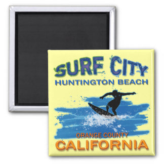 SURF CITY HUNTINGTON BEACH 2 INCH SQUARE MAGNET