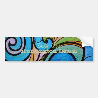 Surf City Huntington Beach Bumper Sticker