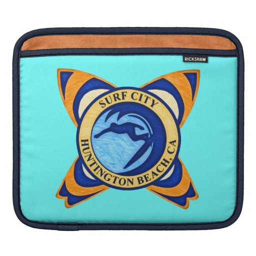 Surf City, Huntington Beach, CA iPad Sleeve