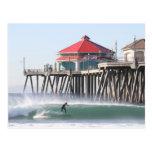 Surf City Huntington Beach Ca Postcard