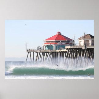 Surf City  Huntington Beach Ca Poster