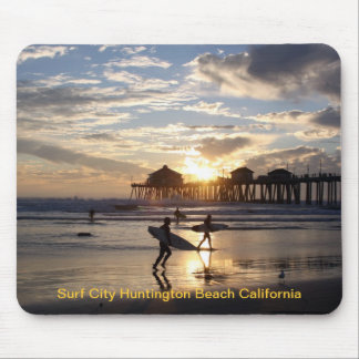Surf City Huntington Beach California Mouse Pad