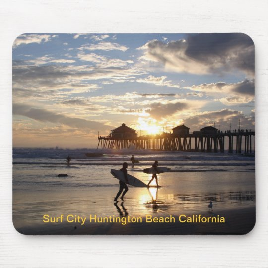 Surf City Huntington Beach California Mouse Pad