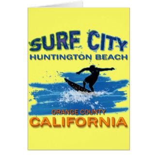 SURF CITY HUNTINGTON BEACH CARD
