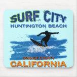 SURF CITY HUNTINGTON BEACH MOUSE PAD