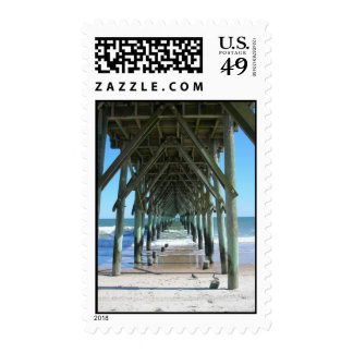 Surf City pier Postage Stamp