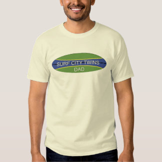 Surf City Twin Dad T Shirt