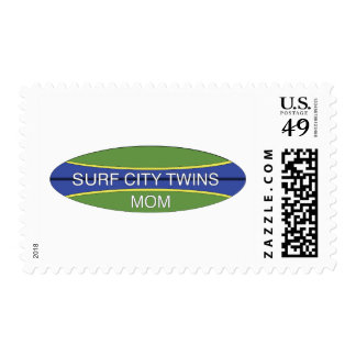 Surf City Twin Mom Postage Stamp