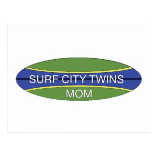 Surf City Twin Mom Postcard