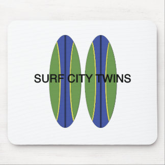 Surf City Twin Surfboards Mouse Pad