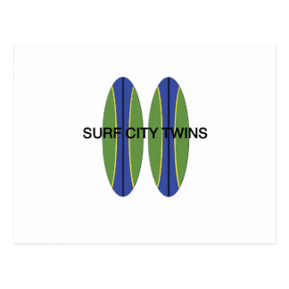 Surf City Twin Surfboards Postcard