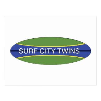 Surf City Twins Postcard