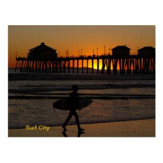 Surf City USA Postcard