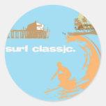 surf classic round sticker