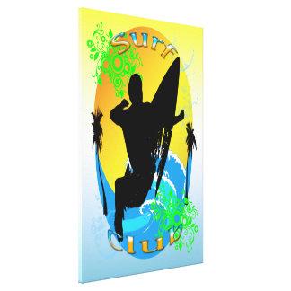 Surf Club - Surfer 24 x36 Stretched Canvas Print