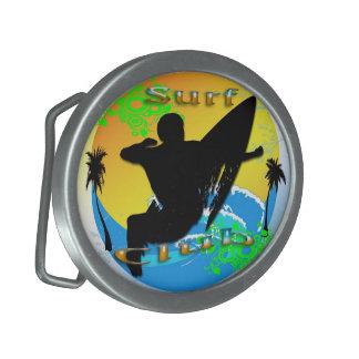 Surf Club - Surfer Oval Belt Buckle