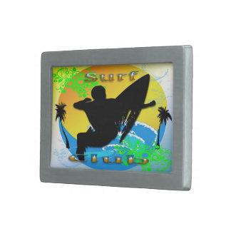 Surf Club - Surfer Rectangle Belt Buckle