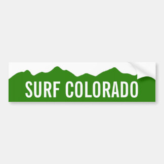 Surf Colorado Bumper Sticker Car Bumper Sticker