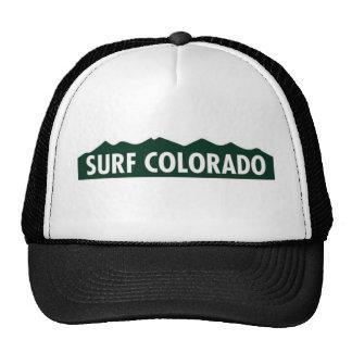 surf colorado FUNNY COLORADO SURFING Mesh Hat