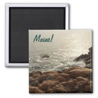 Surf Comes Ashore 2 Inch Square Magnet
