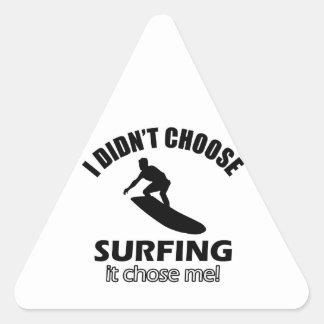 surf design triangle sticker