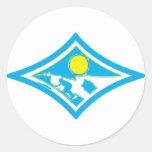 Surf Diamond Brushed Round Sticker