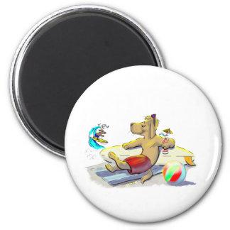 sUrF DoG 2 Inch Round Magnet