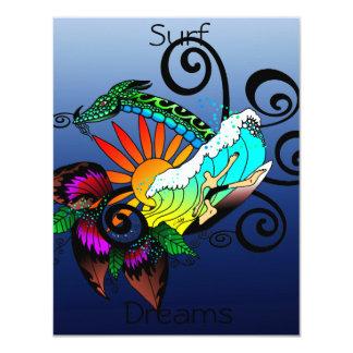 Surf Dreams Blue Card