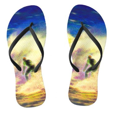 Beach Themed Surf Dreams Flip Flops