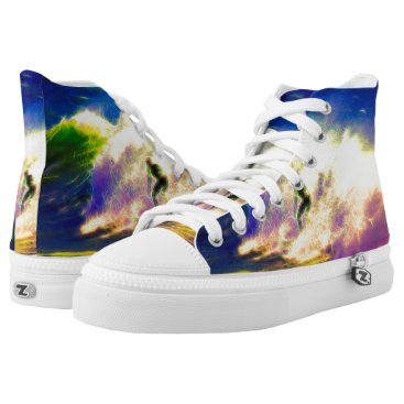 Beach Themed Surf Dreams High-Top Sneakers