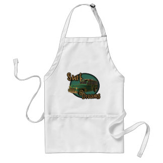 surf dreams lets go surfin in a woodie adult apron