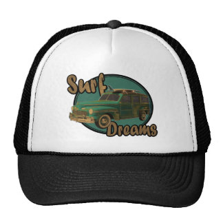 surf dreams lets go surfin in a woodie hats