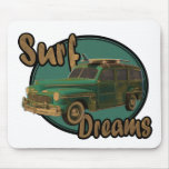surf dreams lets go surfin in a woodie mouse pad