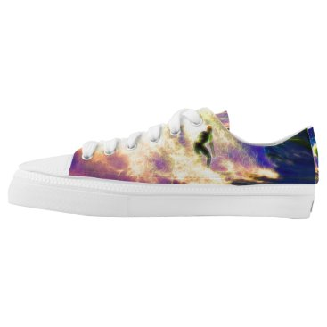 Beach Themed Surf Dreams Low-Top Sneakers